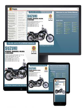 Suzuki Intruder, Marauder, Volusia & Boulevard (85-09) Haynes Online Manual