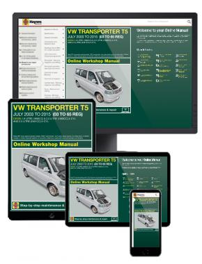 VW T5 Transporter Diesel (July 2003-2015) 03 to 65 Haynes Online Manual