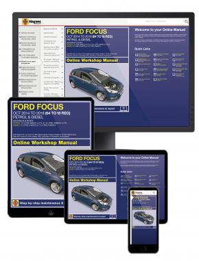 Ford Focus Petrol & Diesel 64 to 18 (Oct 14 - 18) Haynes Online Manual