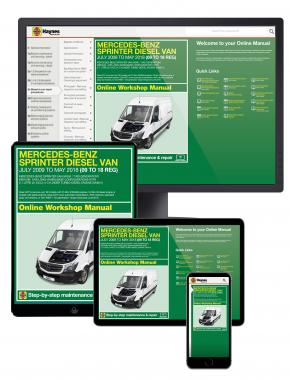 Mercedes-Benz Sprinter Diesel Van July 09 to May 18 (09 to 18 reg) Haynes Online Manual