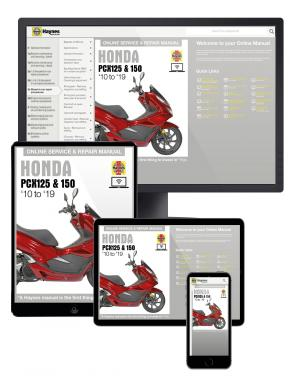 Honda PCX125 & 150 Scooters (12 to 19) Haynes Online Manual