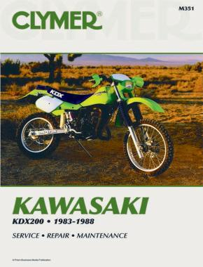 Kawasaki KDX200 Motorcycle (1983-1988 ) Service Repair Manual