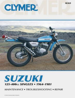 Suzuki 125-400cc Singles Motorcycle (1964-1981) Service Repair Manual
