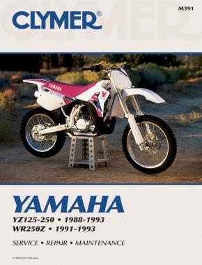 Yamaha YZ125-250 (1988-1993) & WR250Z (1991-1993) Motorcycle Service Repair Manual