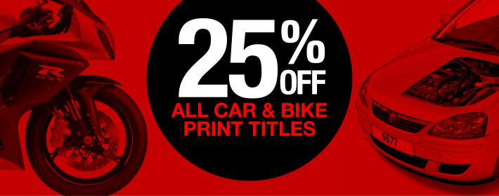25% off Haynes print titles