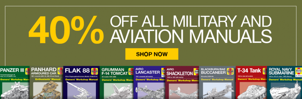 40% off Aviation and Military