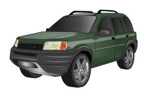 Checking tyre condition Land Rover Freelander 1997 - 2006 Petrol 1.8