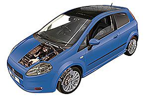 Oil filter change Fiat Grande Punto 2006 - 2015 Petrol 1.4