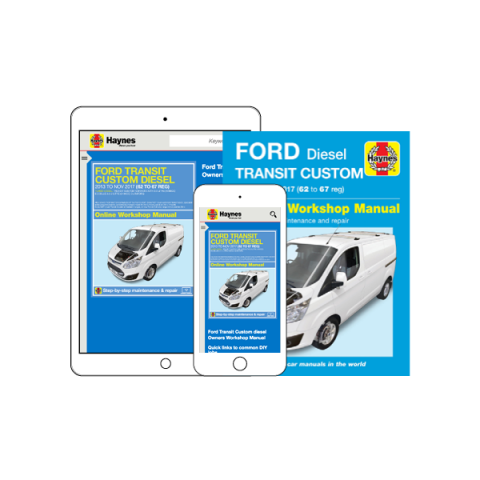 Ford Transit Custom (2013 to 2017) manual now on sale!