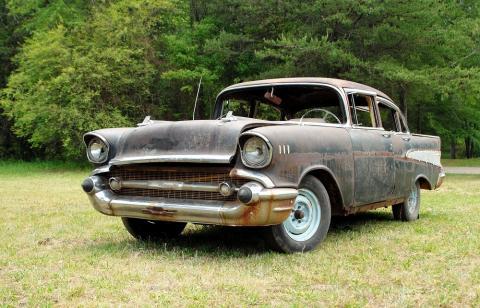 rusty 1957 Chevy Bel Air