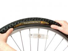 How to fit a new bike tire: step 6