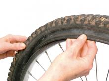 How to remove a bike tire: step 3