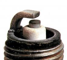 Brown spark plug