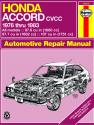 Honda Accord CVCC (1976-1983) Haynes Repair Manual (USA)