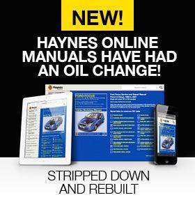 Haynes Online Manuals Sidebar Banner