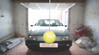 Car hacks tennis ball parking garage