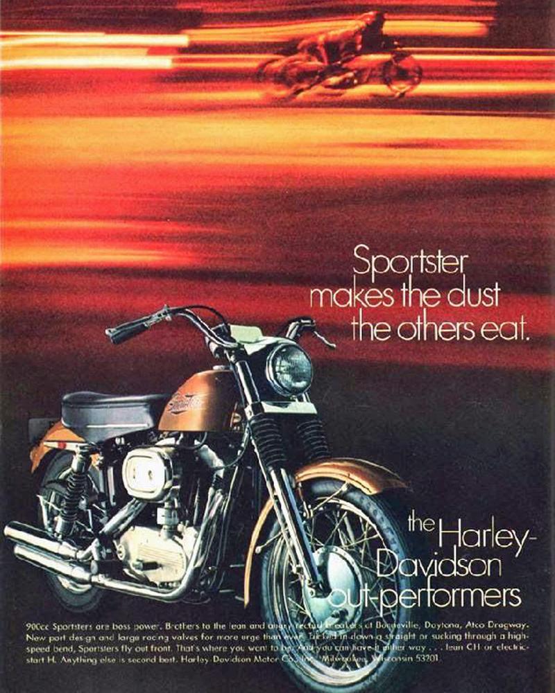 1971 harley-davidson sportster magazine ad