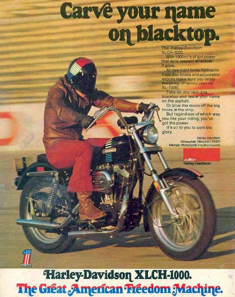 1973 Harley-Davidson Sportster 1000 Magazine Ad