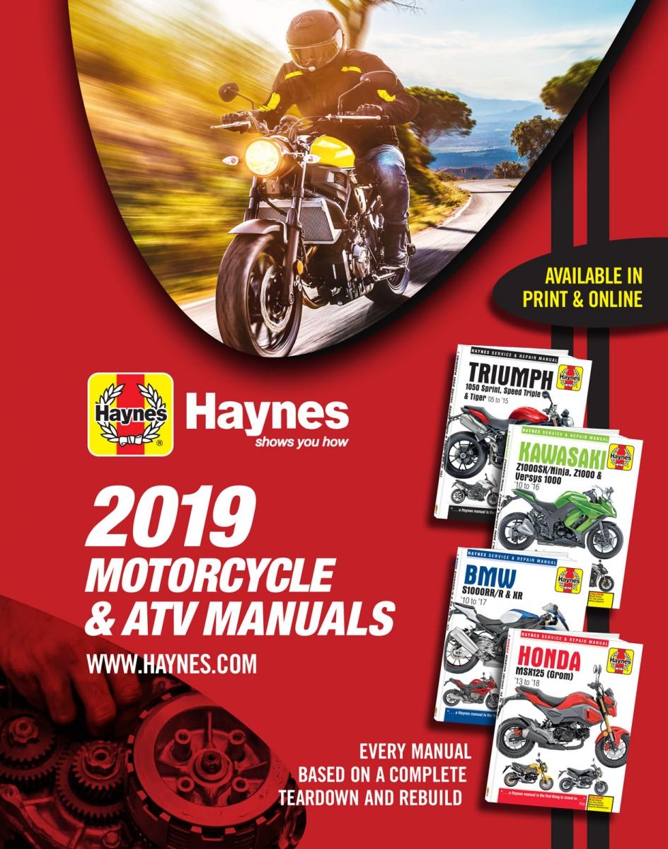 2019 Haynes Powersport Manuals Catalog