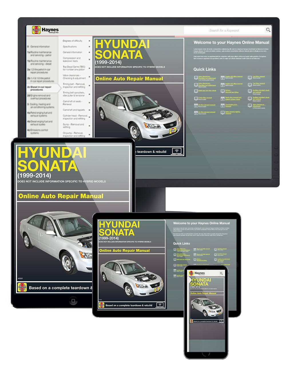 Enlarge Hyundai Sonata (99-14) Haynes Online Manual