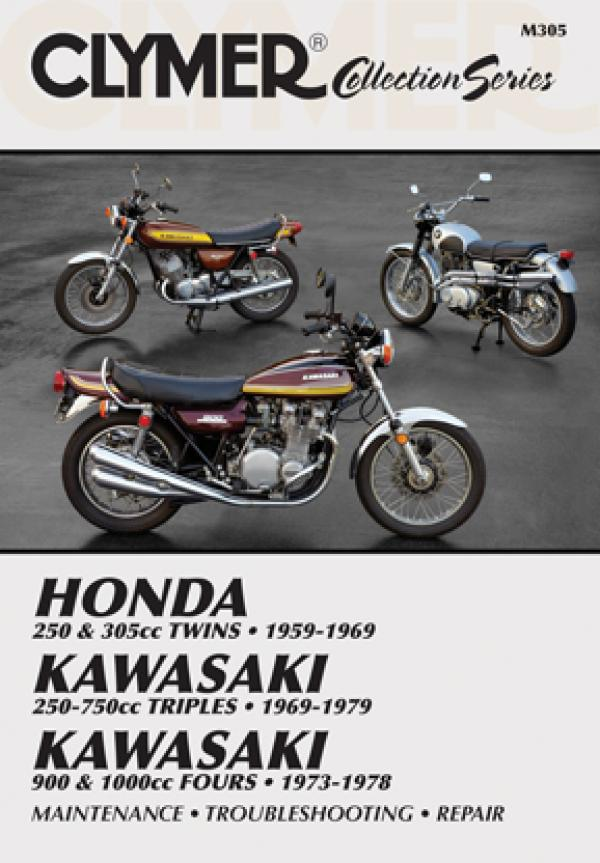 Vintage Honda & Kawasaki Street Bike Service Repair Manual