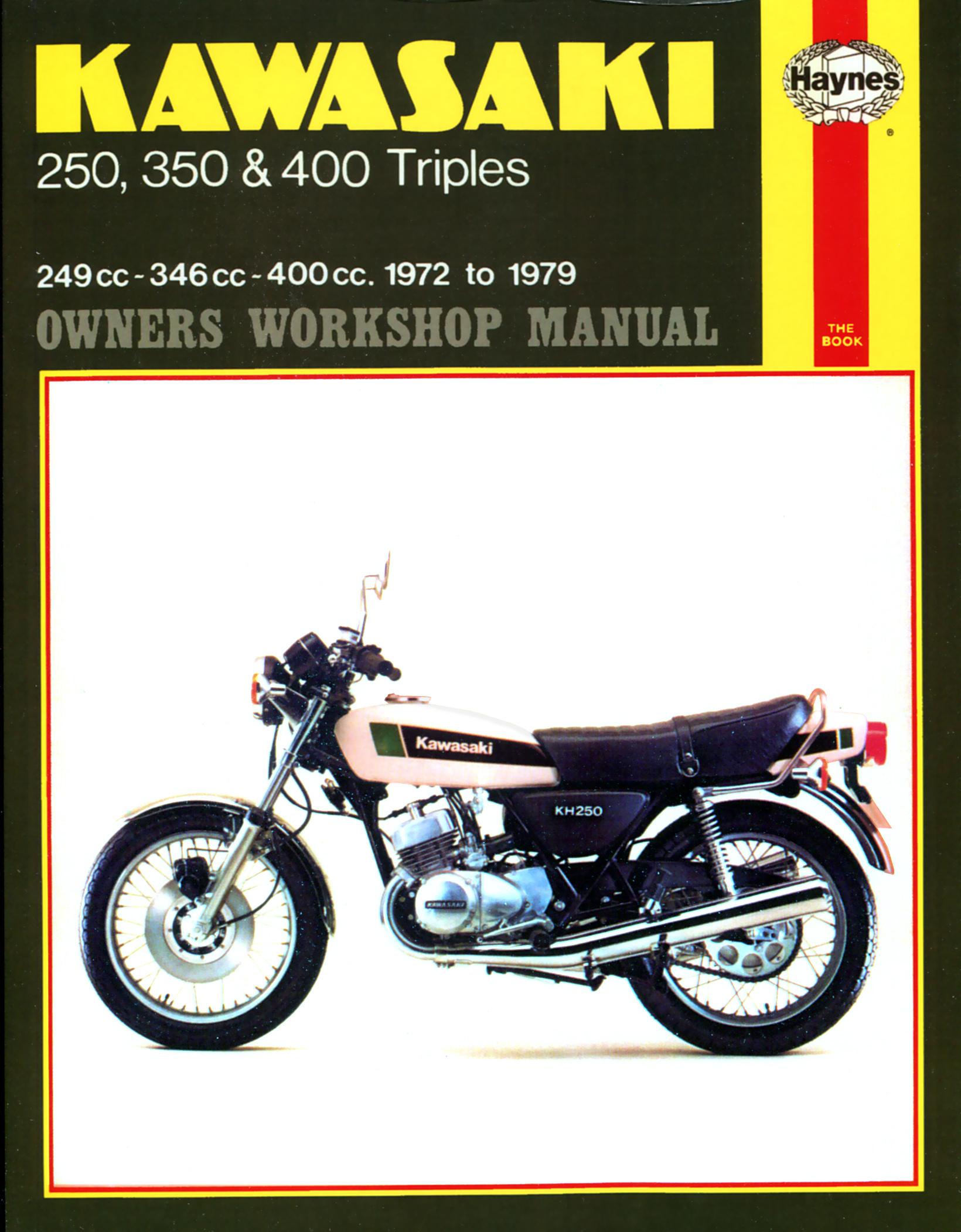 Kawasaki 250, 350 and 400 triples S1 series (72-76), S2 series (72-73) S3 series (74-76) KH250 (75-79) KH400 (75-79) Haynes Repair Manual