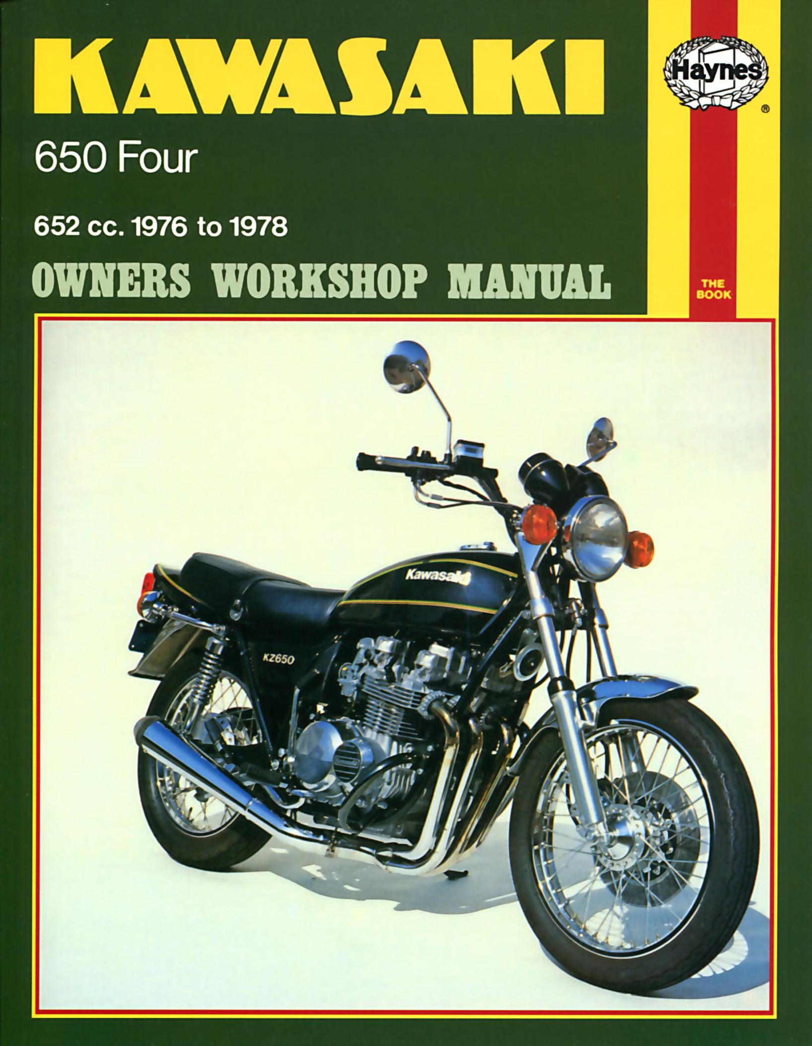 Kawasaki 650 Fours 652cc (76-78) Haynes Repair Manual