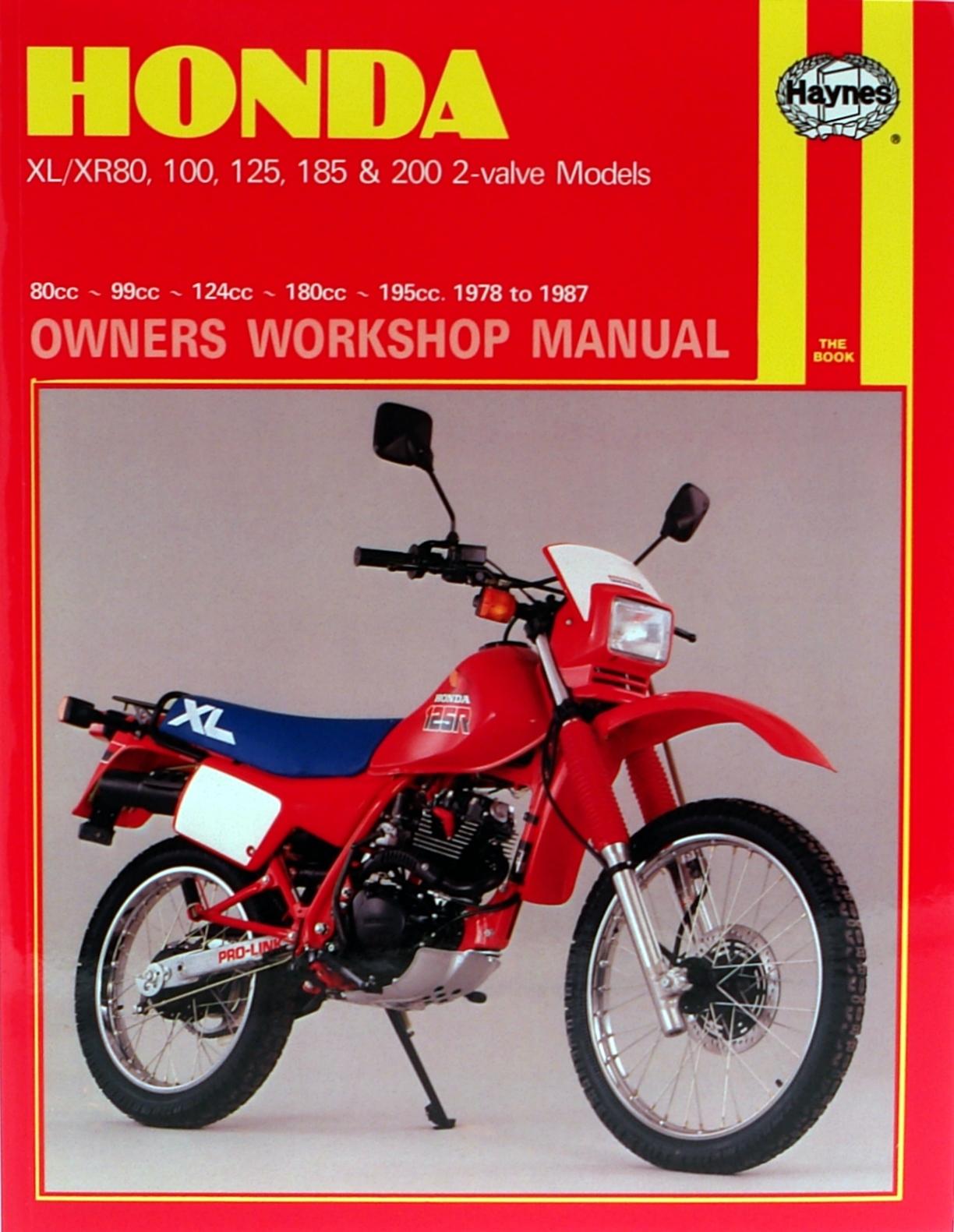 honda xl xr with 80cc thru 200cc engines 78 87 haynes repair rh haynes com honda motorcycle manual 2010 sabre 1300 Honda Motorcycle Spec Manuals
