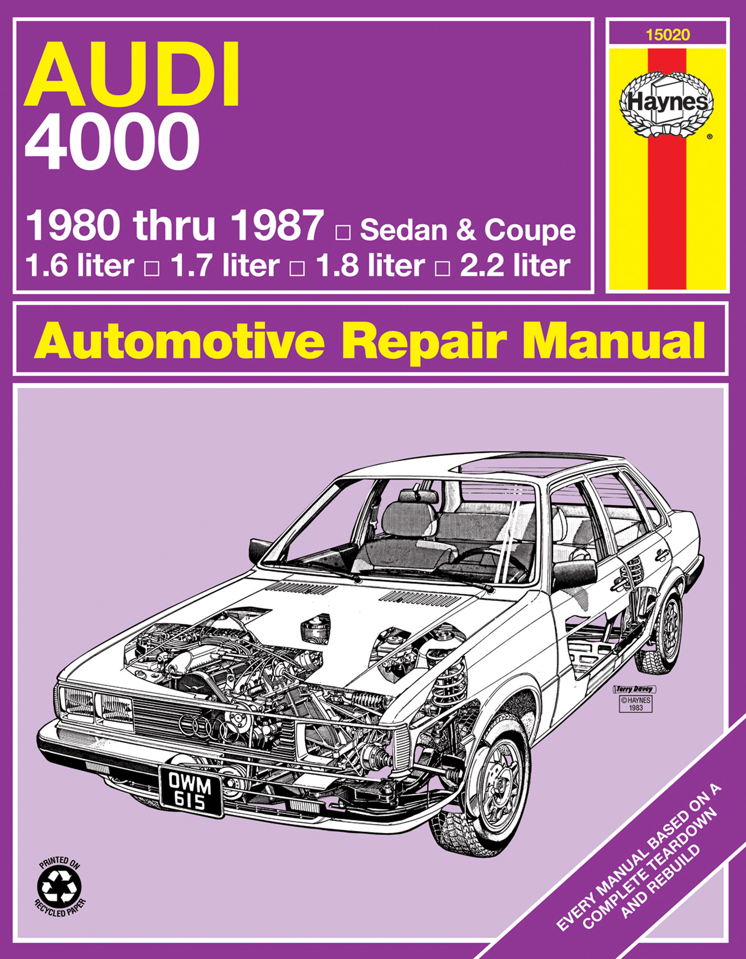 audi 4000 sedan coupe 80 87 haynes repair manual haynes manuals rh haynes com 2.2 Liter Water Bottle 2 Liters Equals Cups