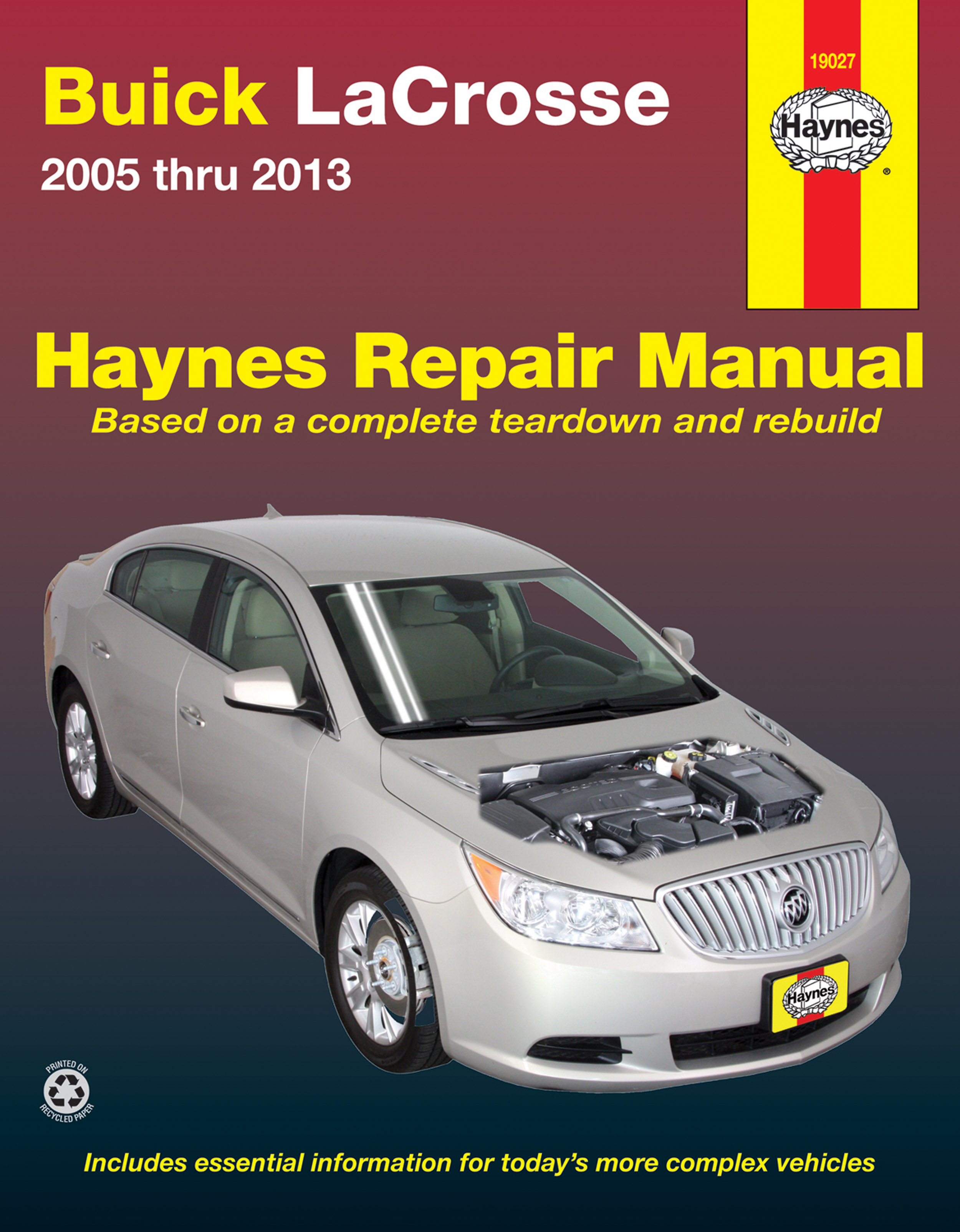 Enlarge Buick LaCrosse (05-13) Haynes Repair Manual