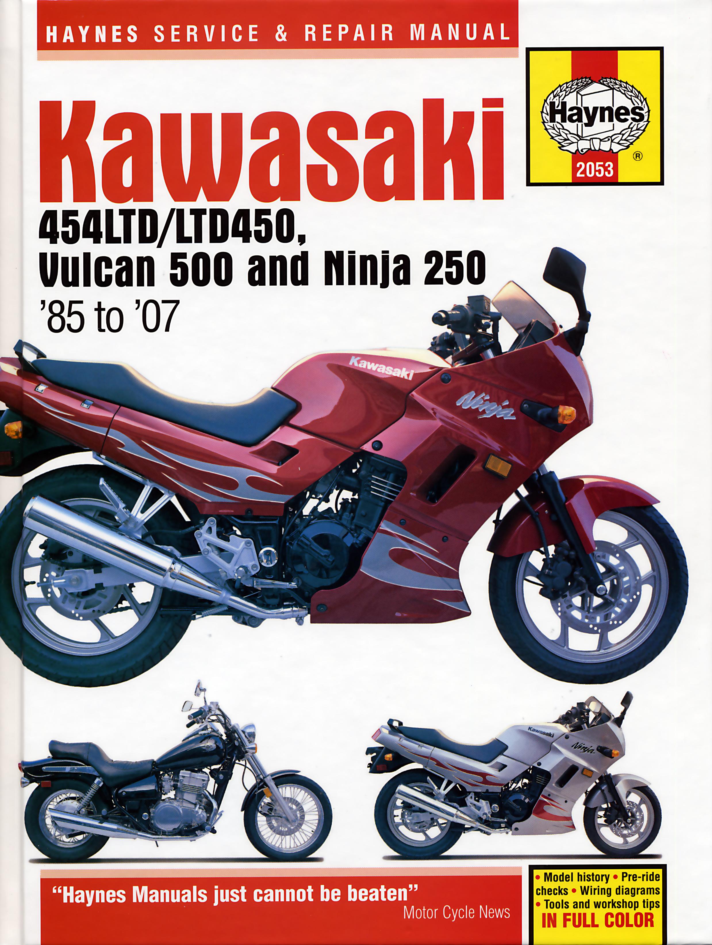 Wiring Diagram For 85 Kawasaki Ninja 6 Worksheet And 2008 250 En450 454ltd Ltd450 90 En500 Vulcan 500 07 Rh Haynes Com Diagrams Abs Brake