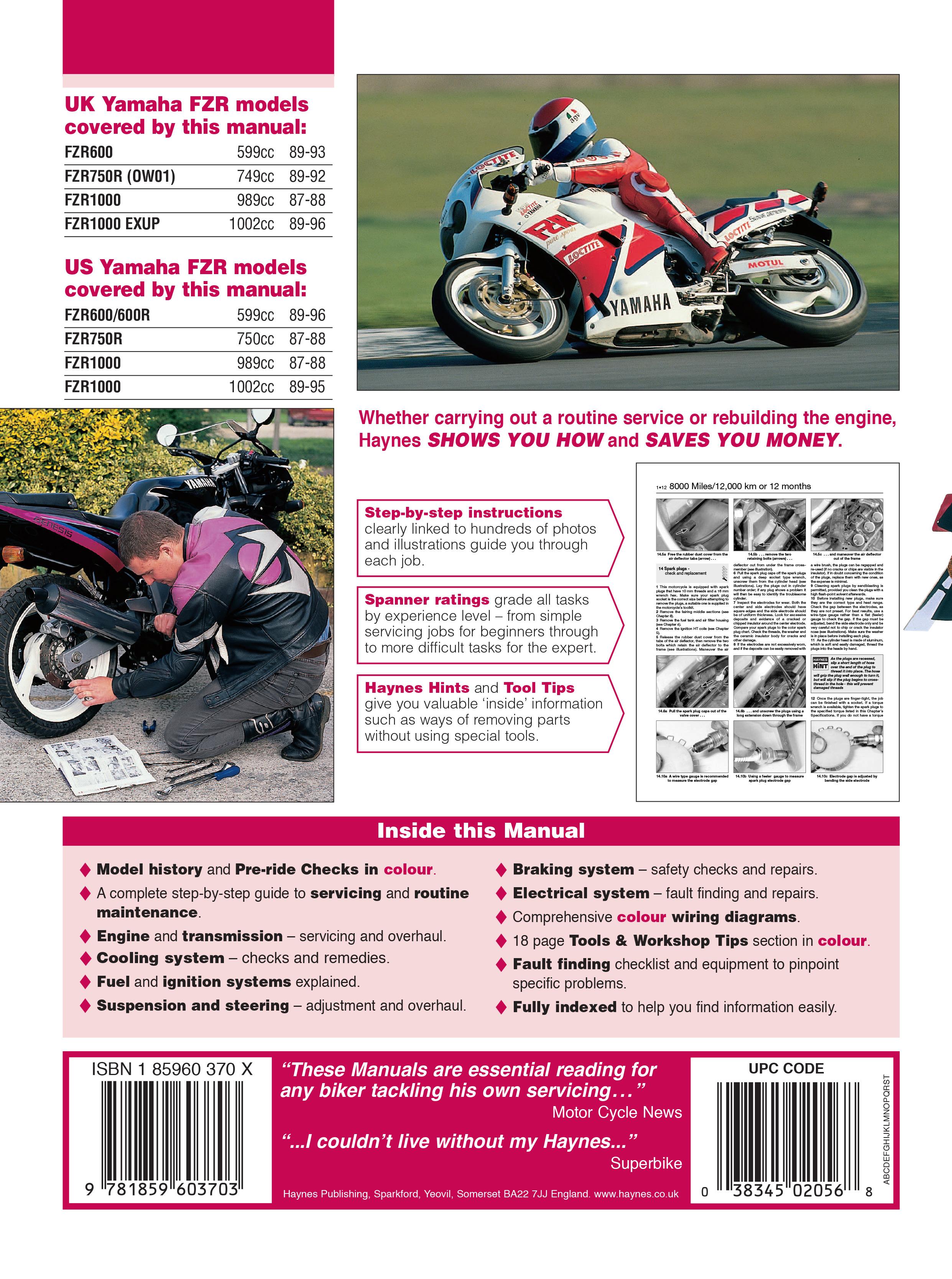 Yamaha FZR600 for (89-96), FZR750 (87-88) &