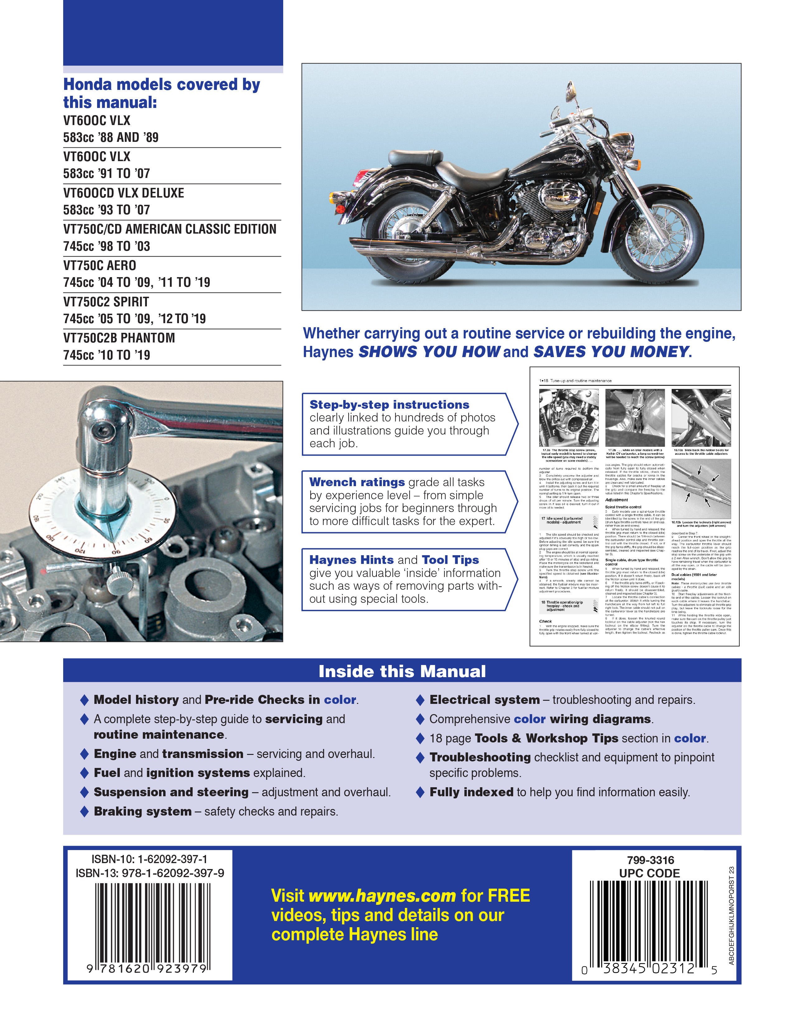 Vt750c2 Shadow Spirit Haynes Manuals