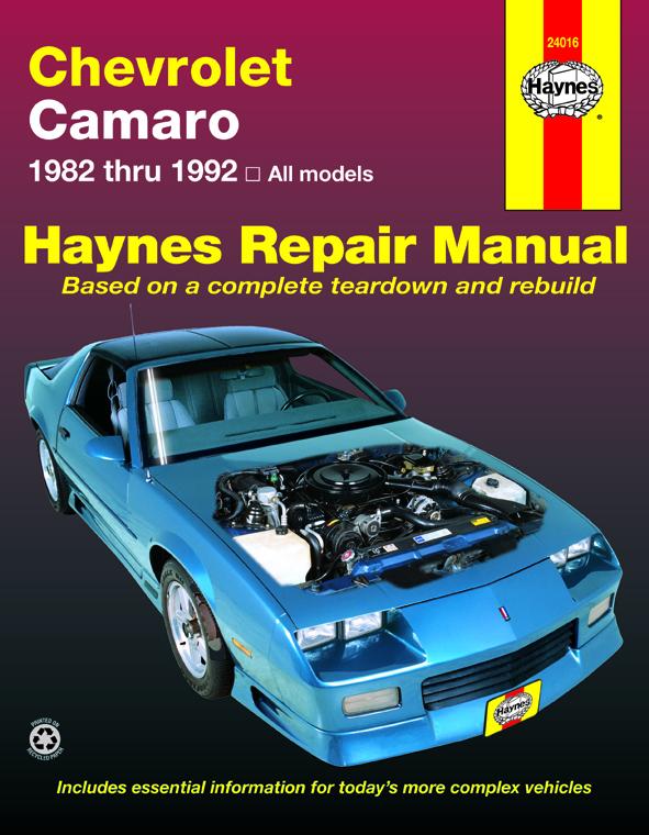 enlarge chevrolet camaro (82-92) haynes repair manual