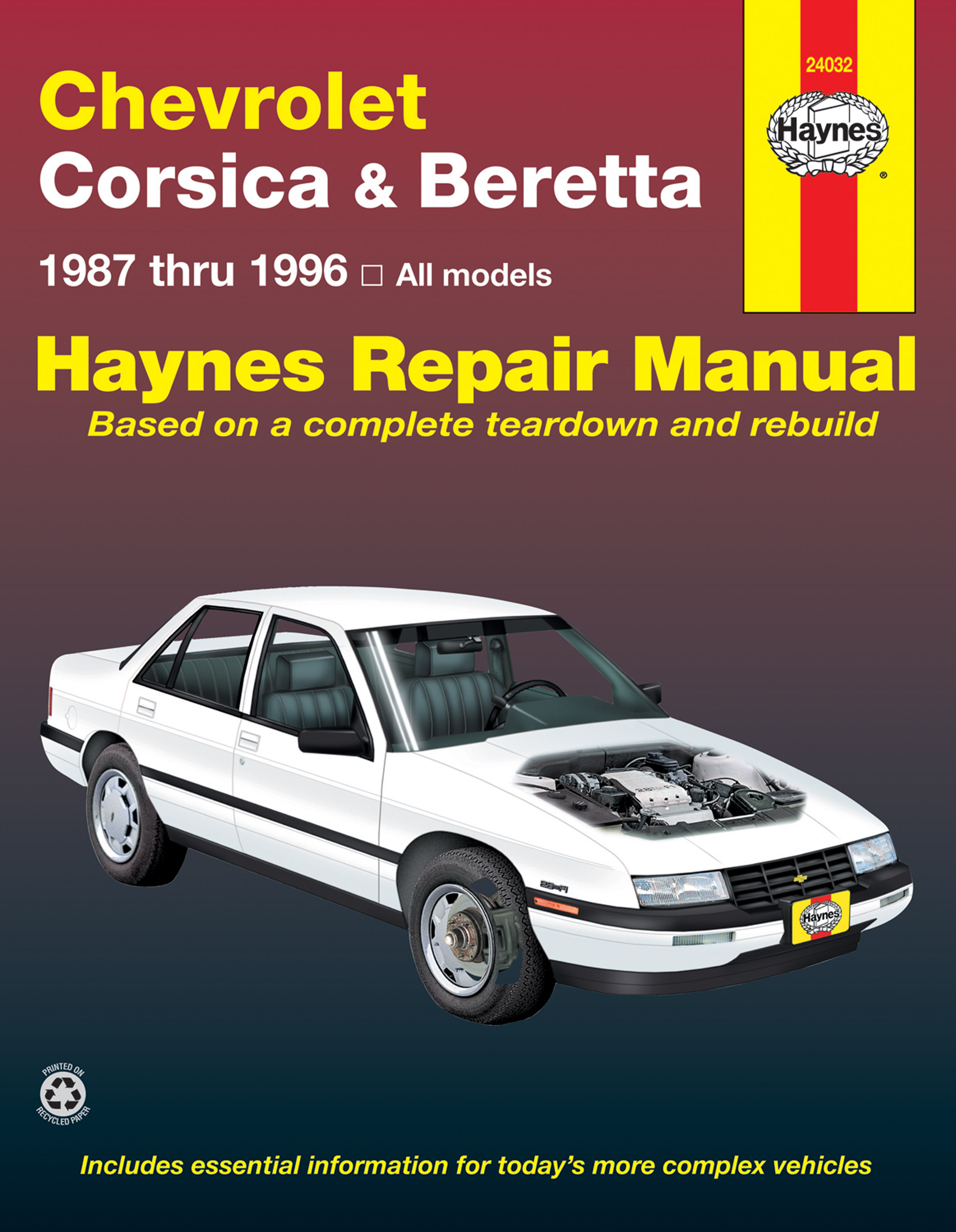 Enlarge Chevrolet Corsica & Beretta (87-96) Haynes Repair Manual