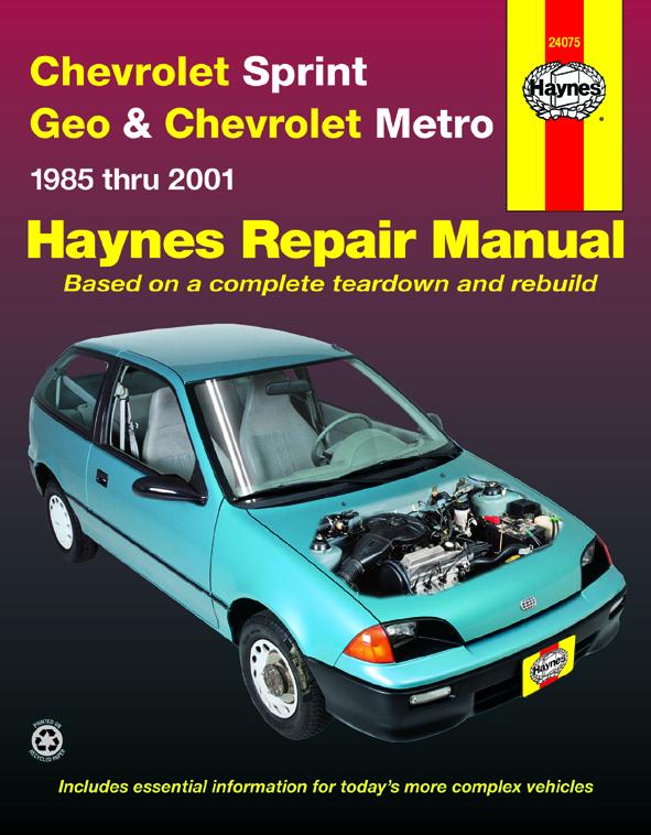 Chevrolet Sprint (1985 - 1988) Repair Manuals on