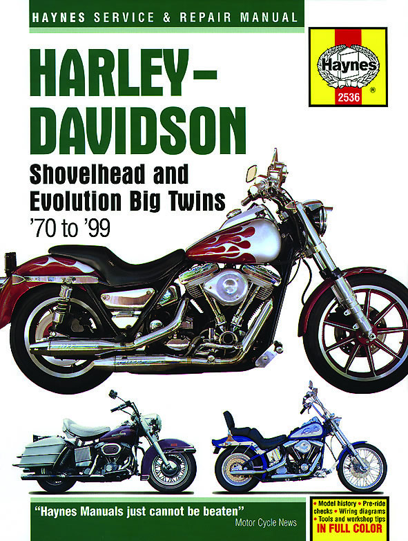 Harley-Davidson Shovelhead & Evolution Big Twins (70-99) Haynes Repair Manual