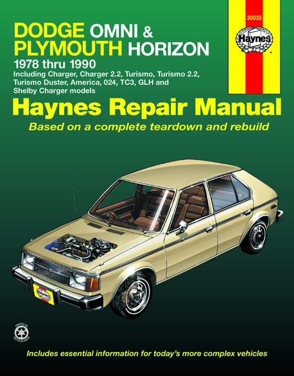Haynes 30035 cover_1_1 dodge omni & plymouth horizon (78 90) haynes repair manual 1989 dodge omni wiring diagram at readyjetset.co