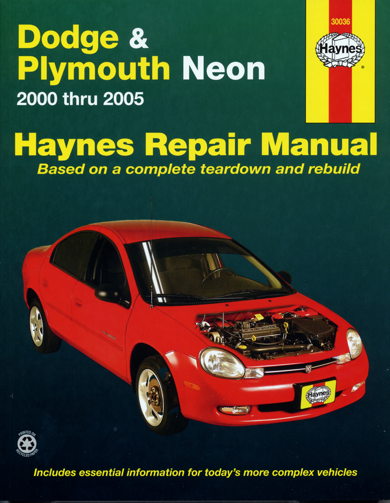 dodge plymouth neon 00 05 haynes repair manual haynes manuals rh haynes com 2000 Dodge Neon 2005 Dodge Neon