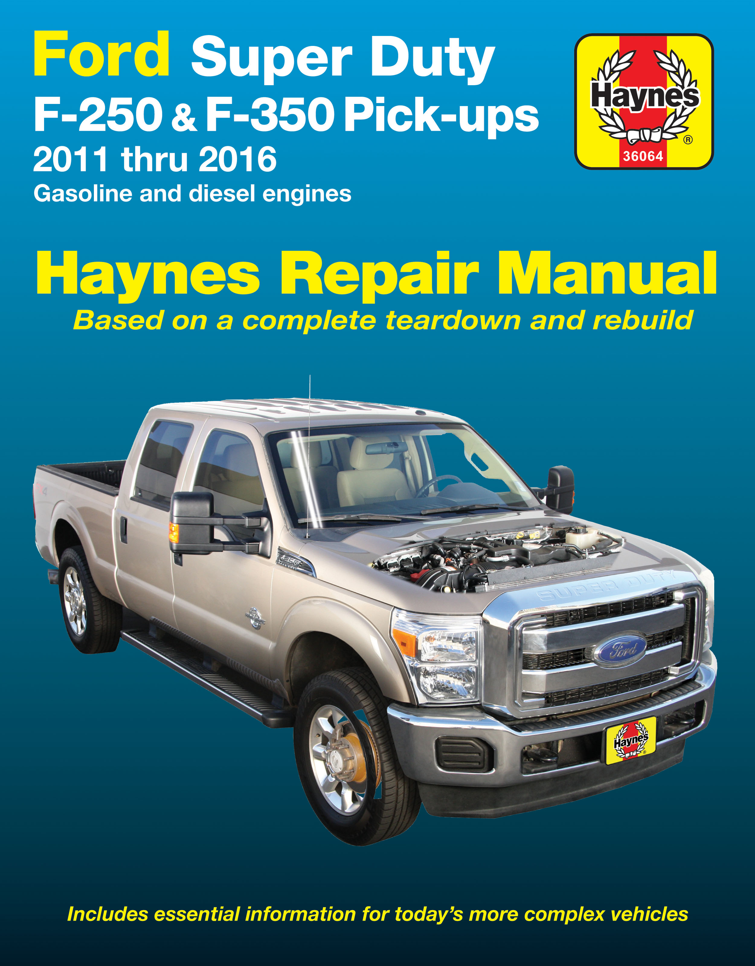 F 250 Super Duty Haynes Manuals 2011 F350 Brake Controller Wiring Diagram Printed Manual Enlarge Ford