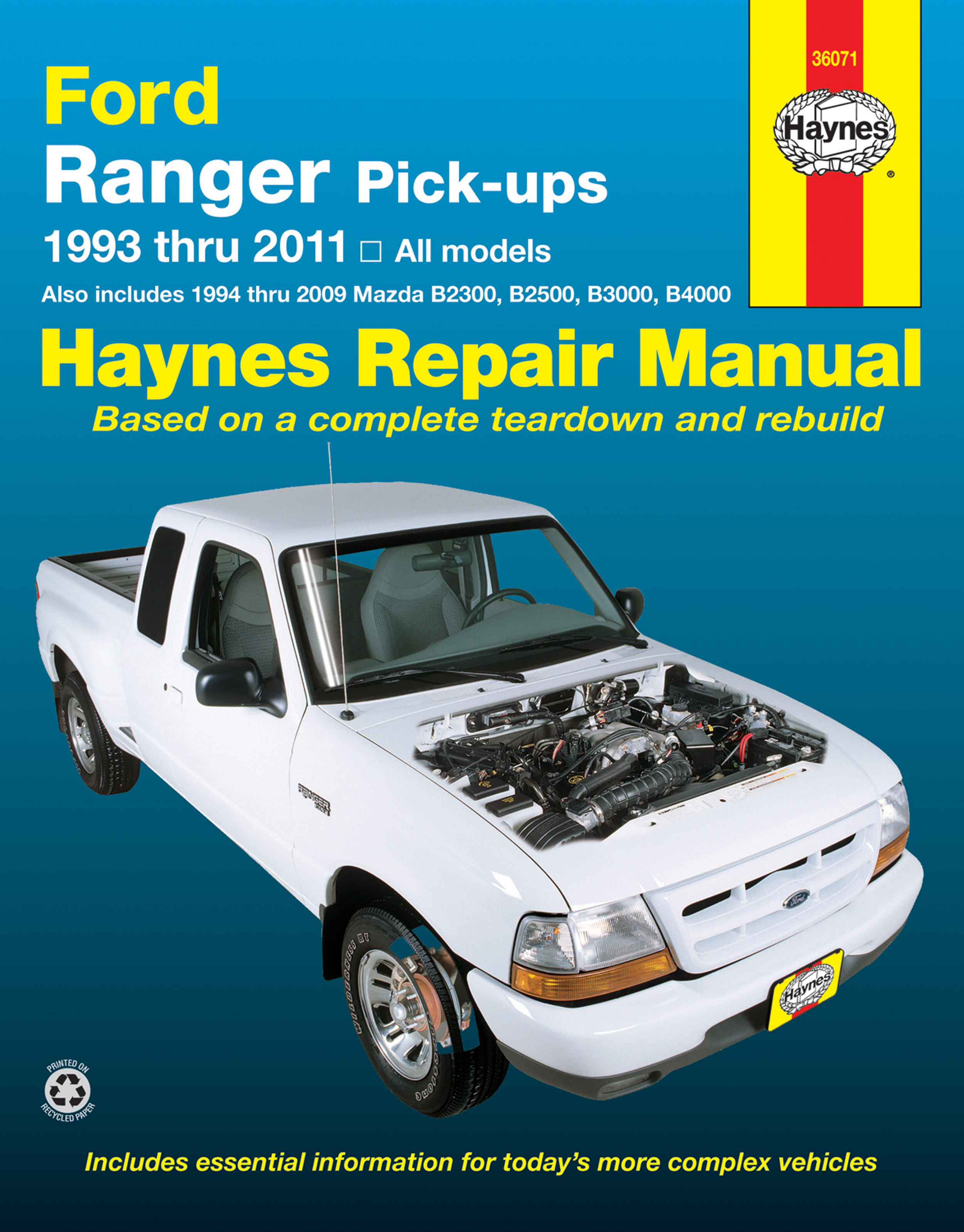 Printed manual. Enlarge Ford Ranger ...