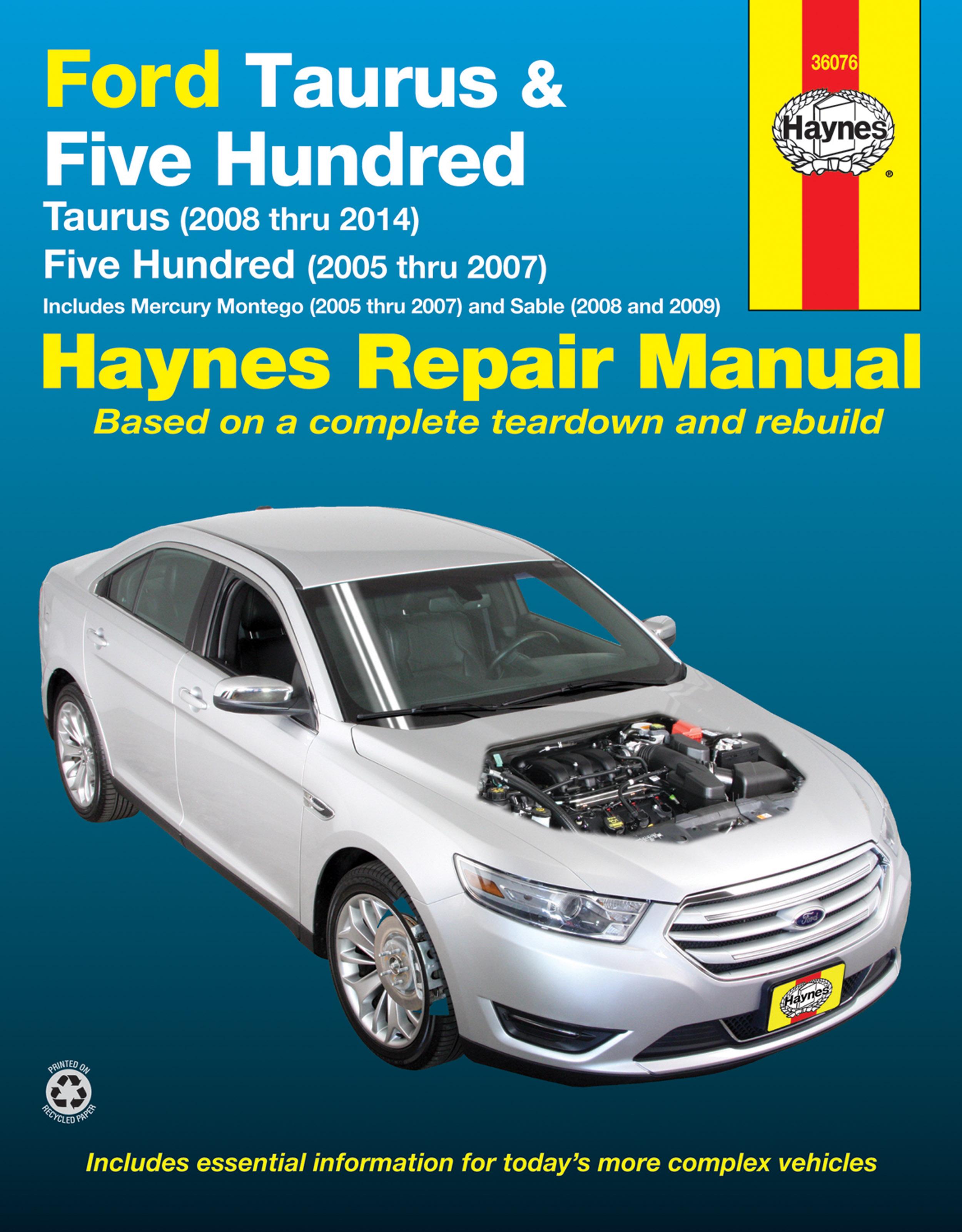 five hundred | haynes manuals 07 mercury montego fuse diagram #11