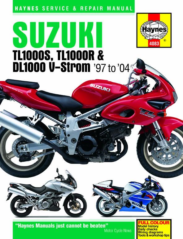 Suzuki TL1000S, TL1000R & DL1000 V-Strom models (97-04) Haynes Repair Manual