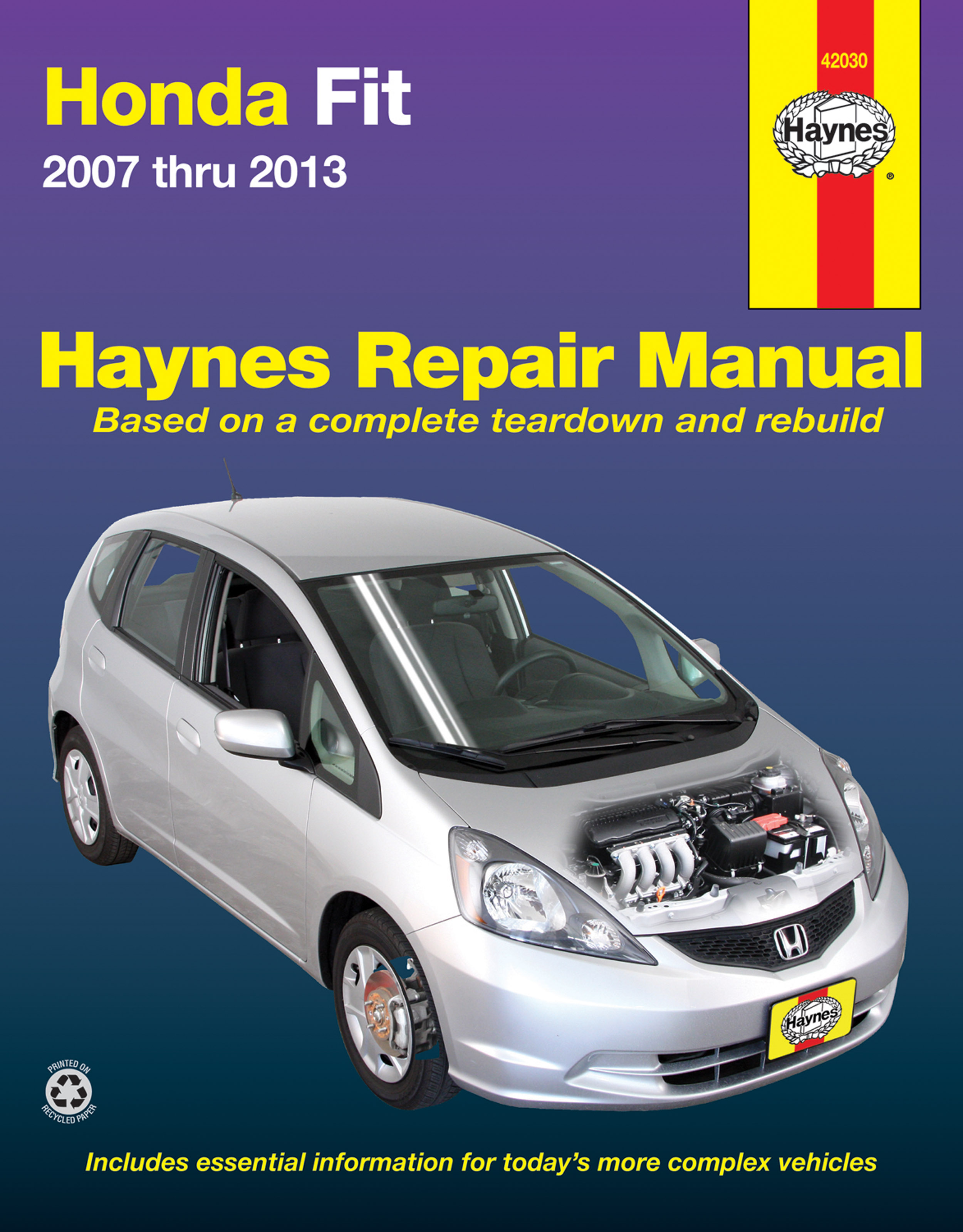 Printed manual. Enlarge Honda Fit ...