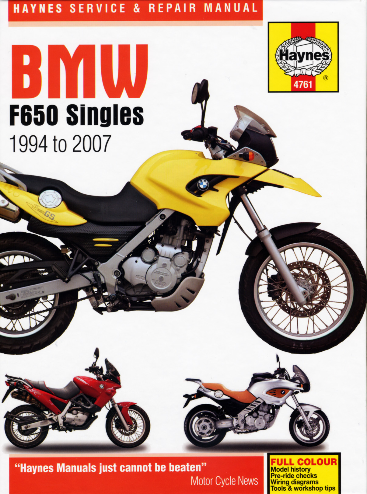 BMW F650 Singles (94-07) Haynes Repair Manual | Haynes Manuals  F Wiring Harness Diagram on 2007 ford focus wiring diagram, 2007 k1200r wiring harness diagram, 2004 super duty fuse diagram, 2007 ford focus fuse diagram, 2007 mustang wiring harness diagram, 4l60e pinout diagram,