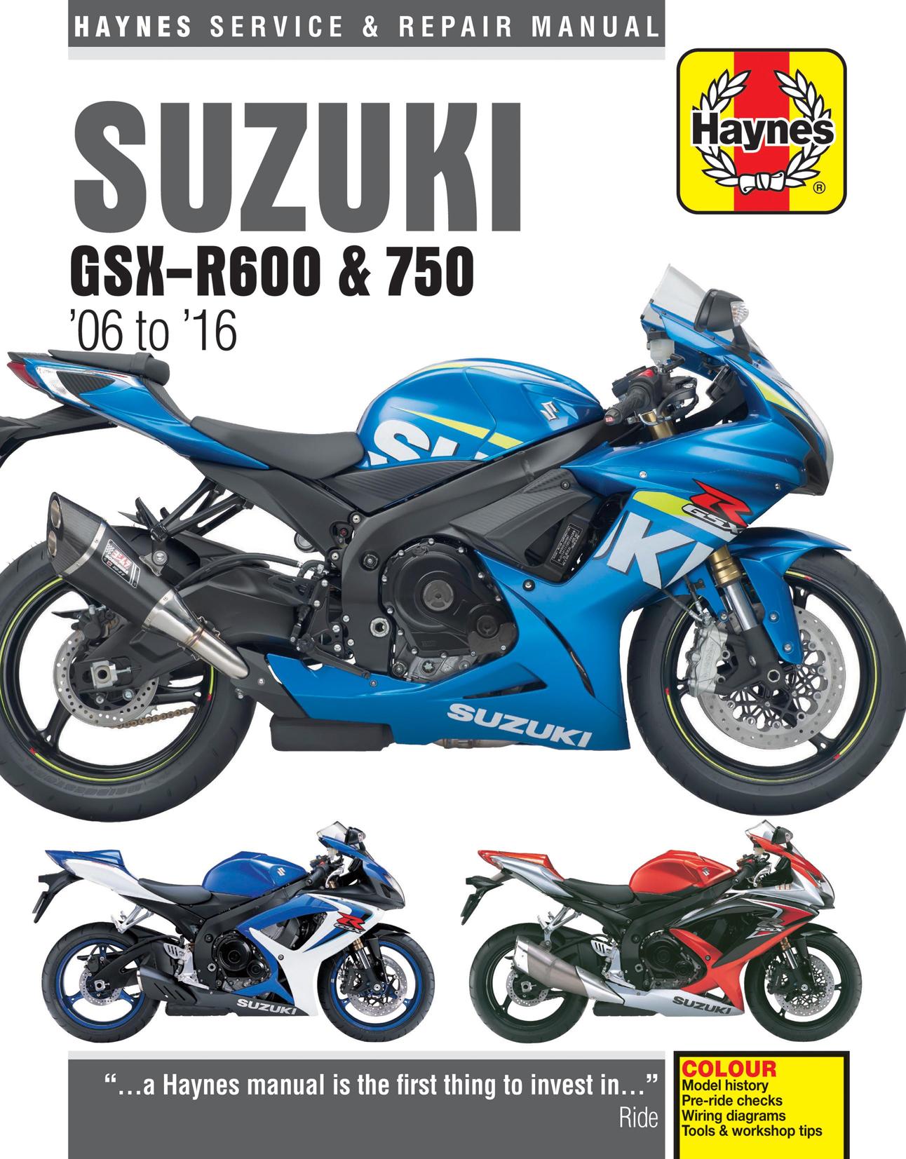Suzuki GSX-R600 & GSX-R750 (06-16) Haynes Repair Manual