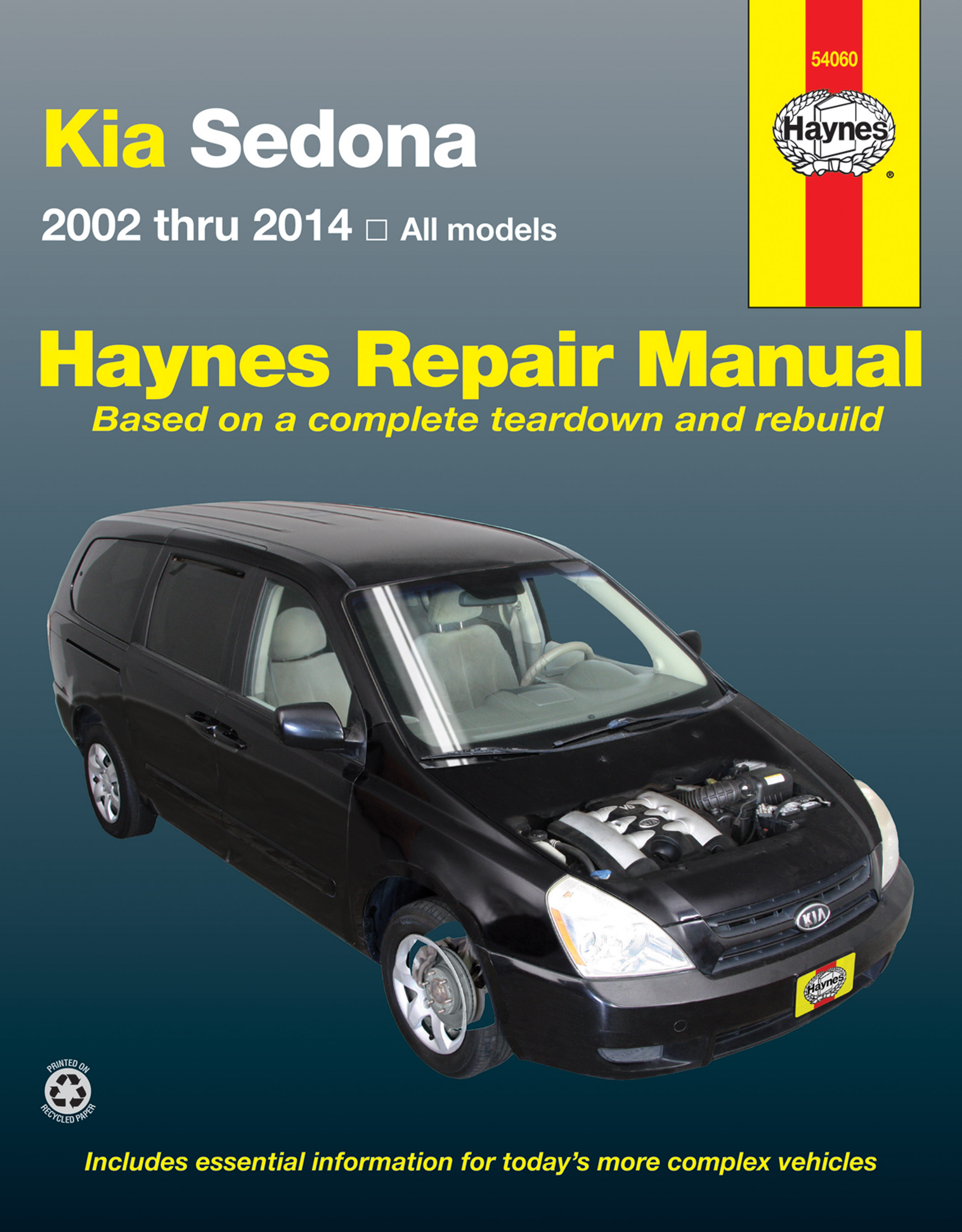 Enlarge Kia Sedona (02-14) Haynes Repair Manual