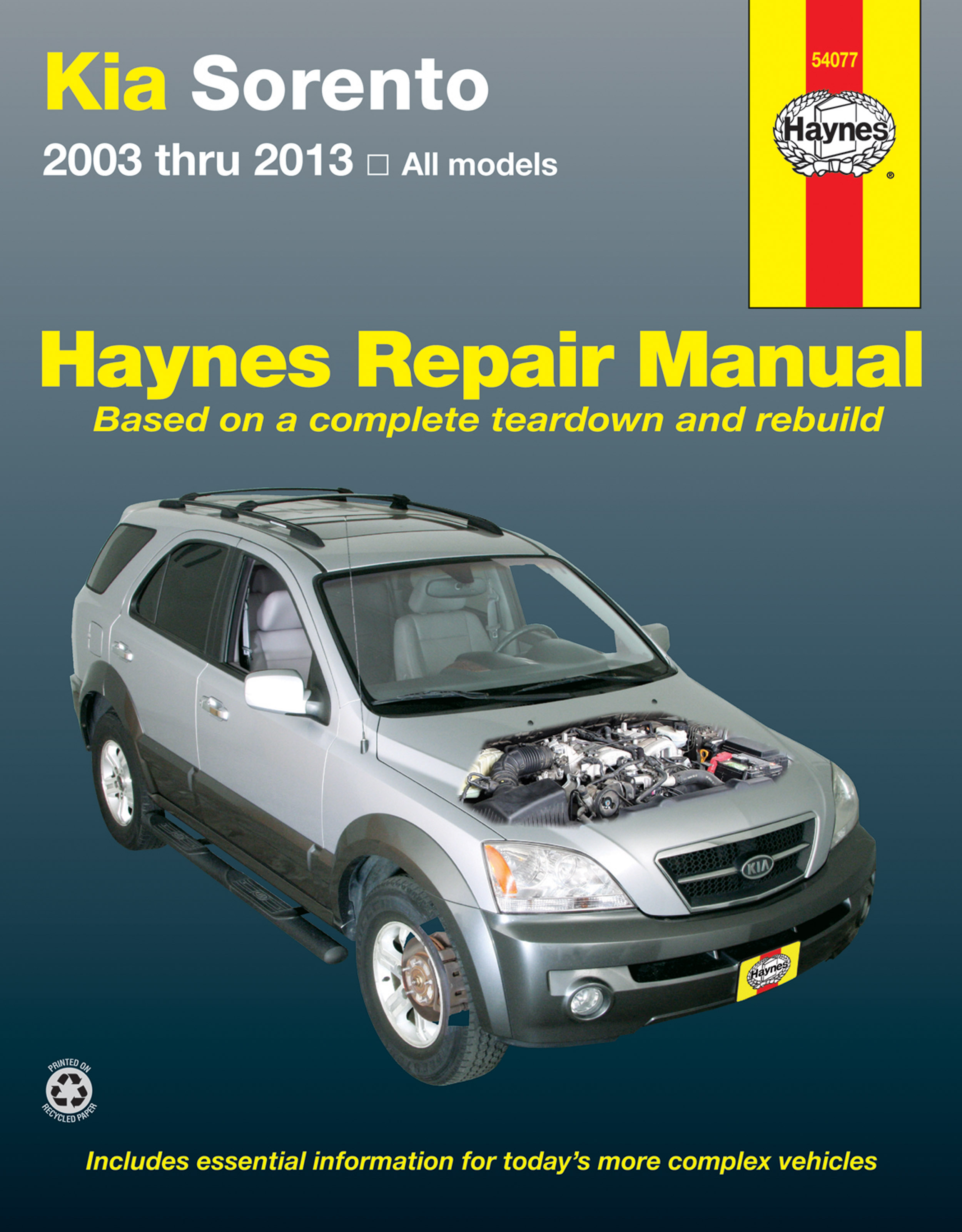 Enlarge Kia Sorento (03-13) Haynes Repair Manual