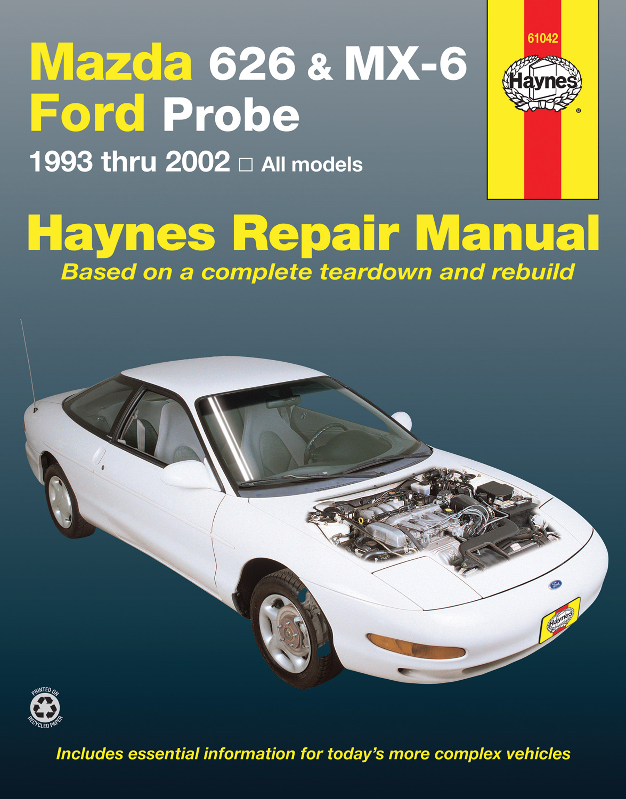 ... 2000 mazda 626 workshop manual. mazda 626 mx 6 ford probe covering mazda  626 93 02 mazda mx 6 rh haynes