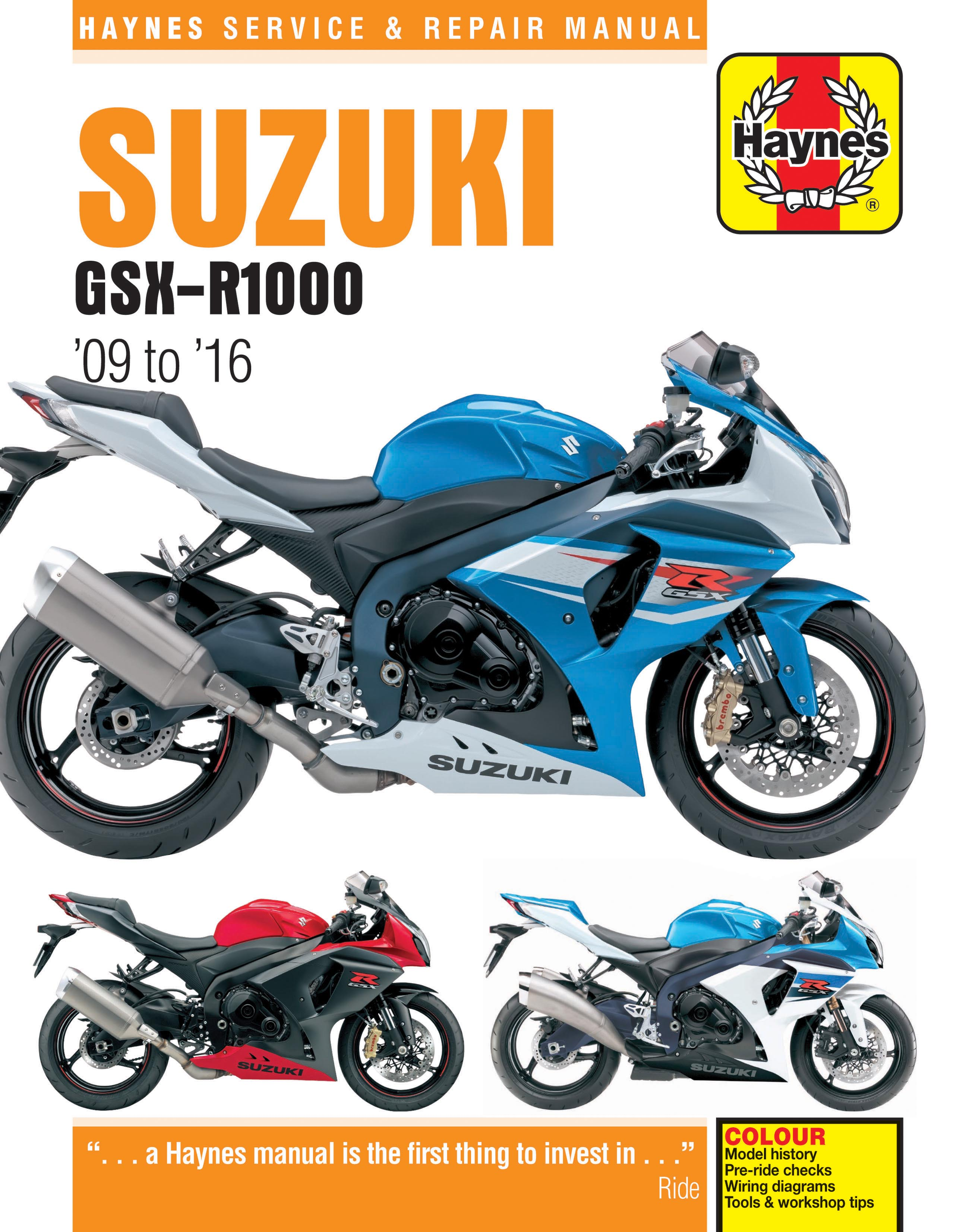 Suzuki GSX-R1000 (09-16) Haynes Repair Manual
